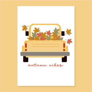 Autumn Truck A4 Poster - The Print Route