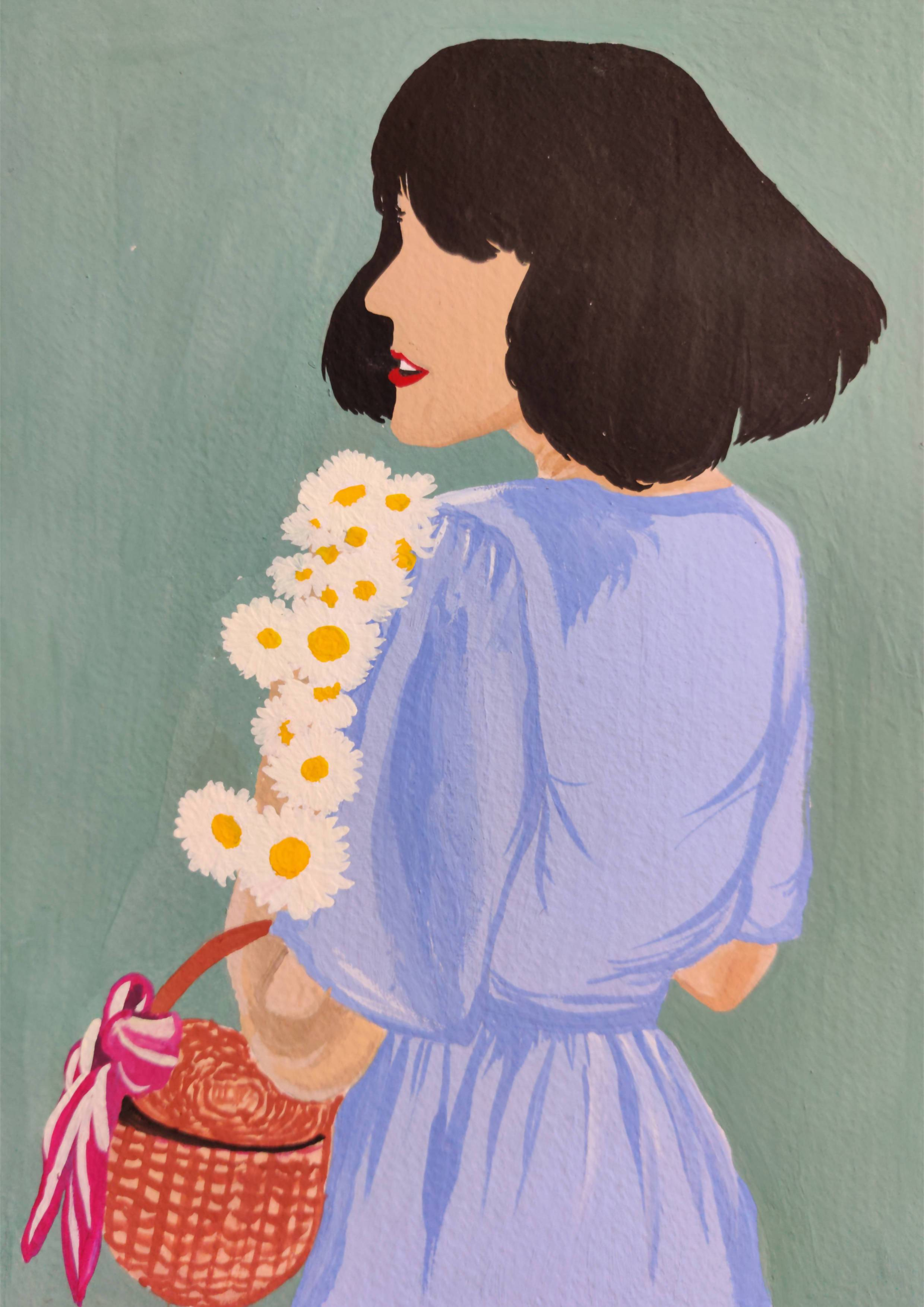 That Girl with daisies