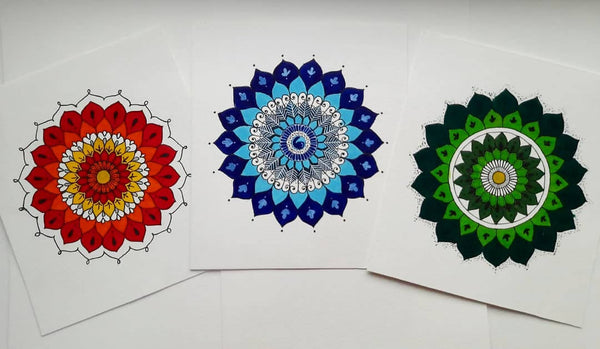 Blue themed Mandala poster - Kiranmai