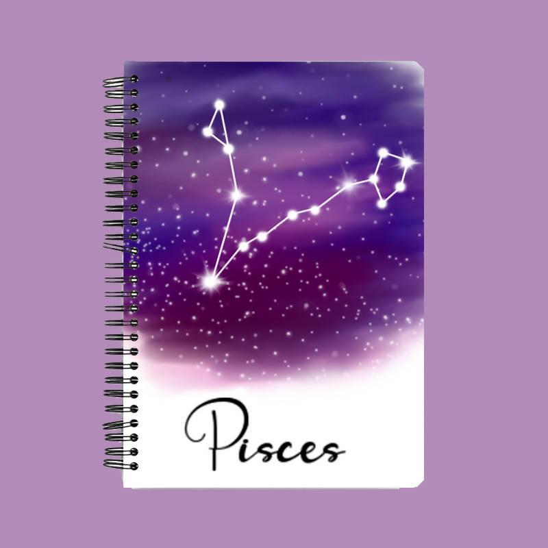 Zodiac series - Pisces constellation A5 Notebook - Hrudya