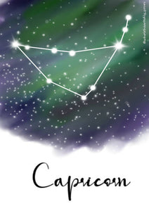 Zodiac series - Capricorn constellation A5 Notebook - Hrudya
