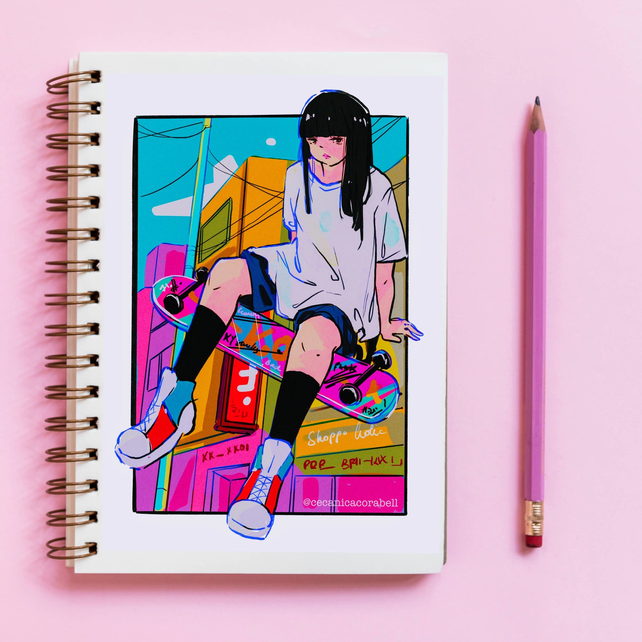 Skater girl Notebook