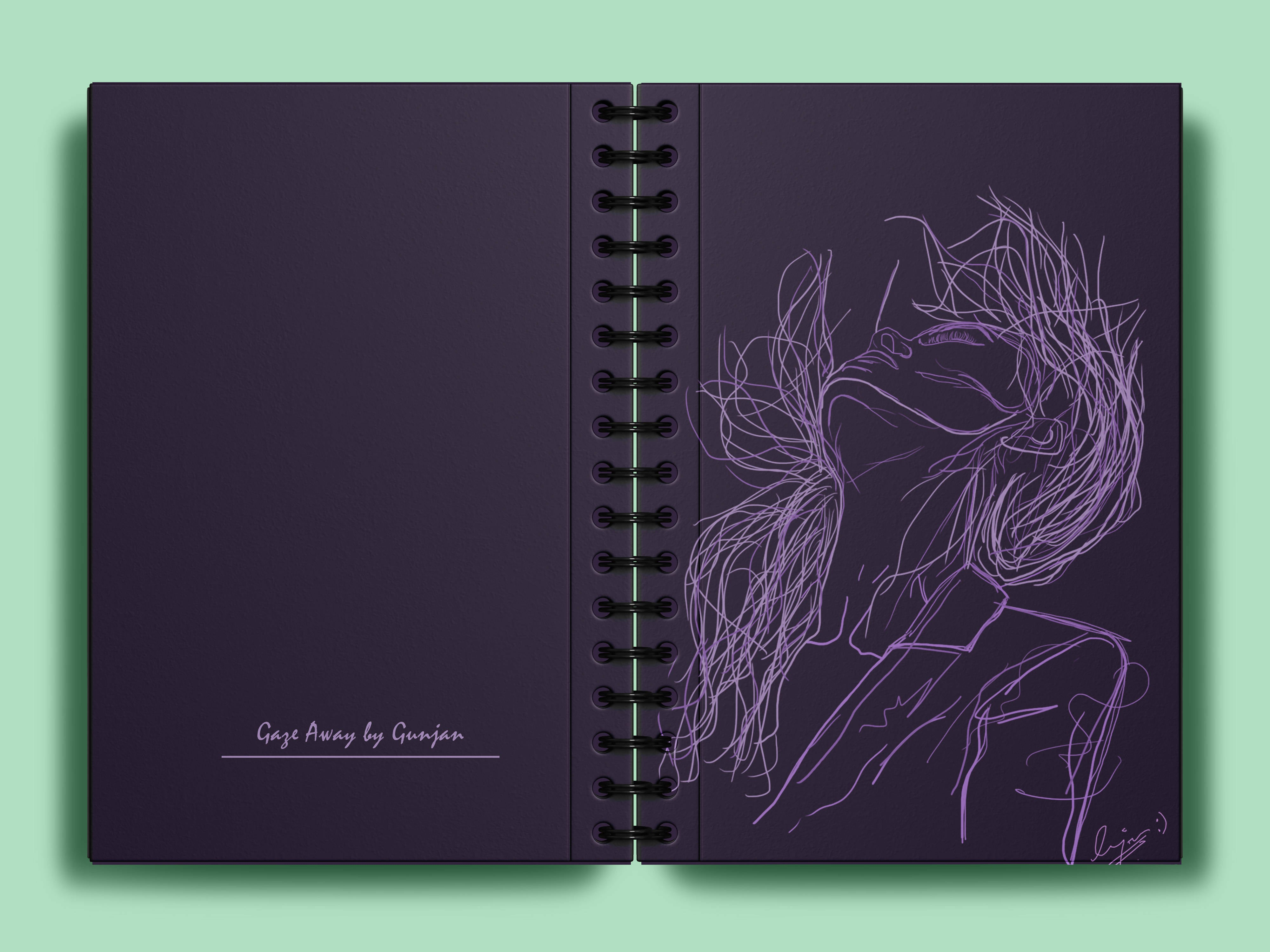 Into The Wind A5 Notebook - Gunjan Mudgal