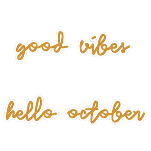 October Vibe Fall Sticker - The Print Route