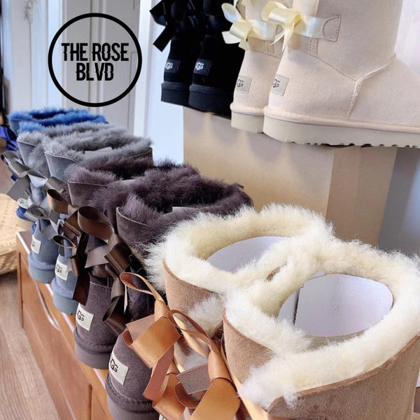 UGG 2 Bow Boots- ADDITIONAL COLORS- (Big Kids)- (PREORDER)