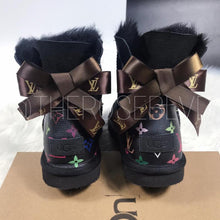 Load image into Gallery viewer, Black Louis Vuitton Uggs