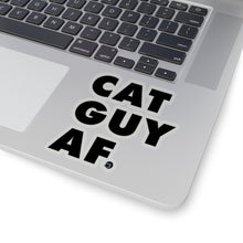 Load image into Gallery viewer, Cat Guy AF Sticker (Black)