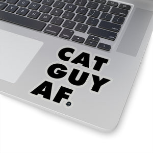 Cat Guy AF Sticker (Black)