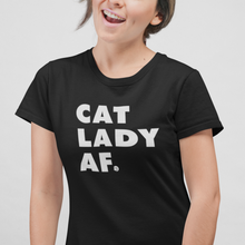 Load image into Gallery viewer, CAT LADY AF TEE | WOMENS
