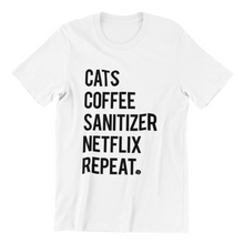 Load image into Gallery viewer, SANITIZE NETFLIX CAT TEE | MENS