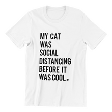 Load image into Gallery viewer, CAT SOCIAL DISTANCING TEE | WOMENS