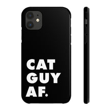 Load image into Gallery viewer, Cat Guy AF Phone Case (Black)