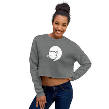 Load image into Gallery viewer, CatCafe Lounge Icon Crop Sweatshirt
