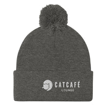 Load image into Gallery viewer, CatCafe Lounge Pom-Pom Beanie