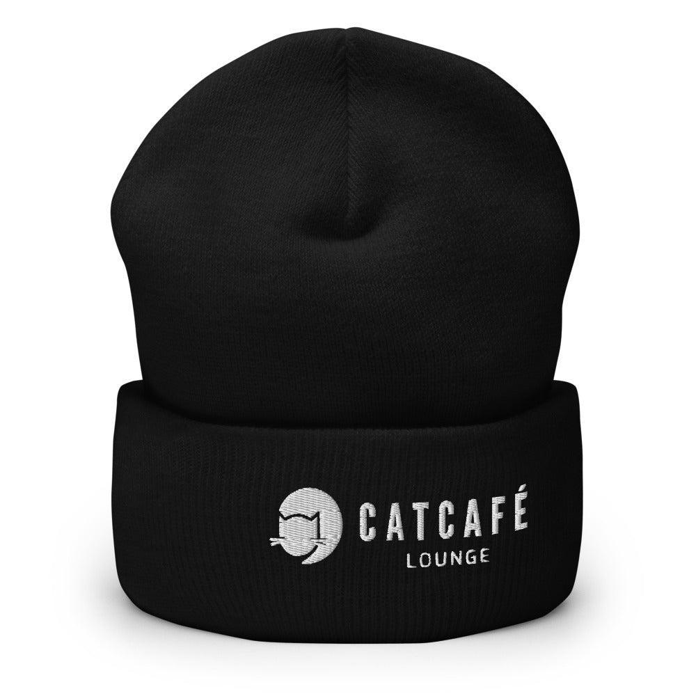 CatCafe Lounge Cuffed Beanie