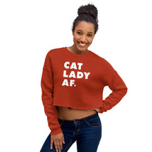 Load image into Gallery viewer, Cat Lady AF Crop Sweatshirt