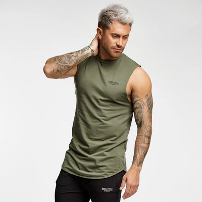 Only The Strong Survive Cut Off Tee - Khaki