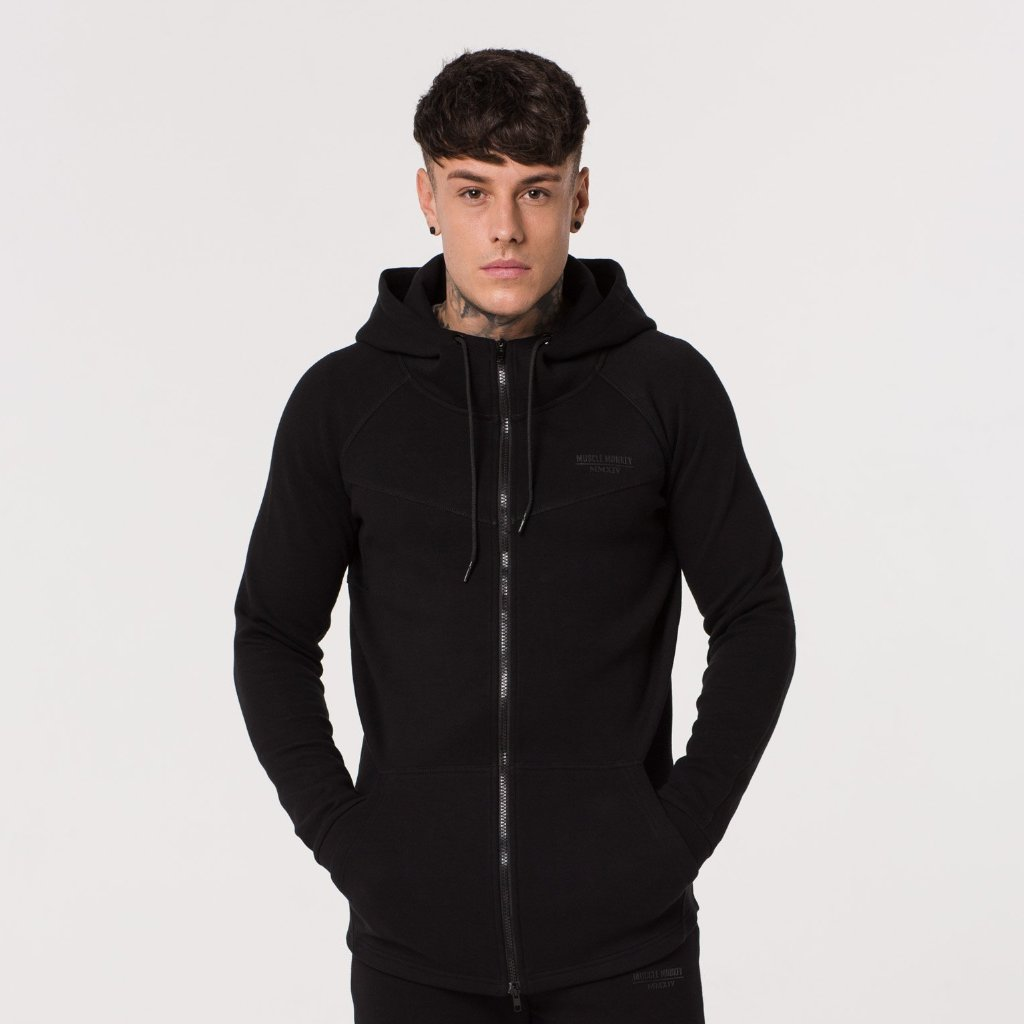 Black Shadow Zip-Up Hoody