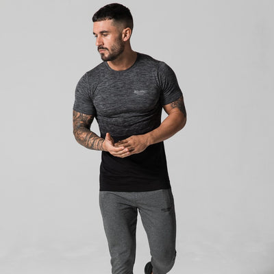 Grey/Black Seamless Tee