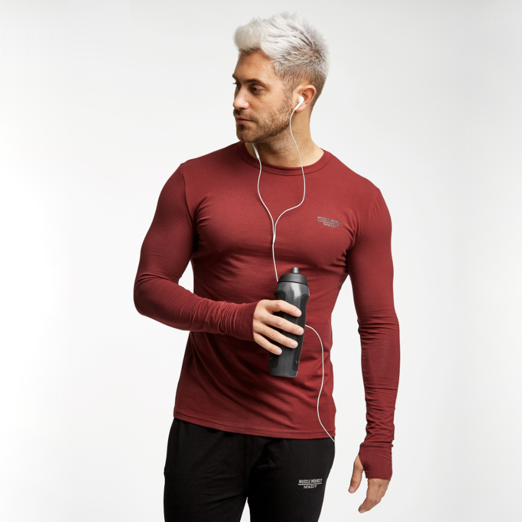 Burgundy Base-Layer Tee