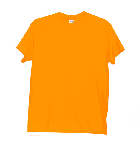 GILDAN ADULT T SHIRT - NEON ORANGE
