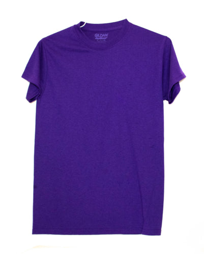 GILDAN ADULT T SHIRT - PURPLE