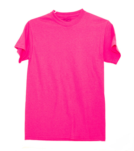 GILDAN ADULT T SHIRT - HOT PINK