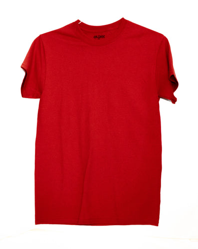 GILDAN ADULT T SHIRT - RED