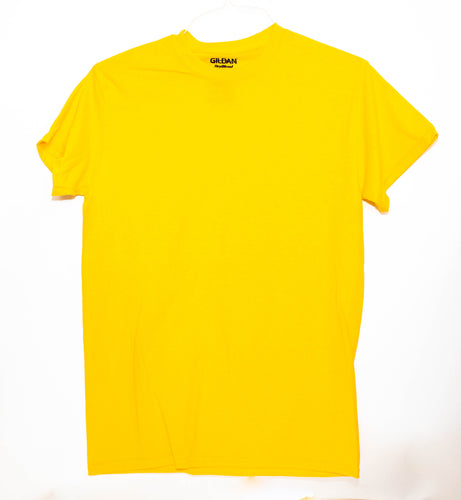 GILDAN ADULT T SHIRT - YELLOW