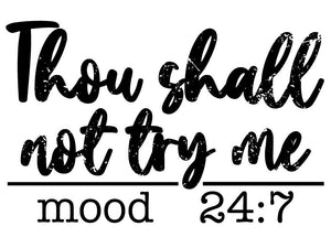 Thou Shall Not ...