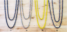 Load image into Gallery viewer, 60 Inch Crystal Beaded Necklaces