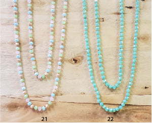 60 Inch Crystal Beaded Necklaces