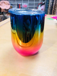 Metallic Rainbow Wine Tumbler