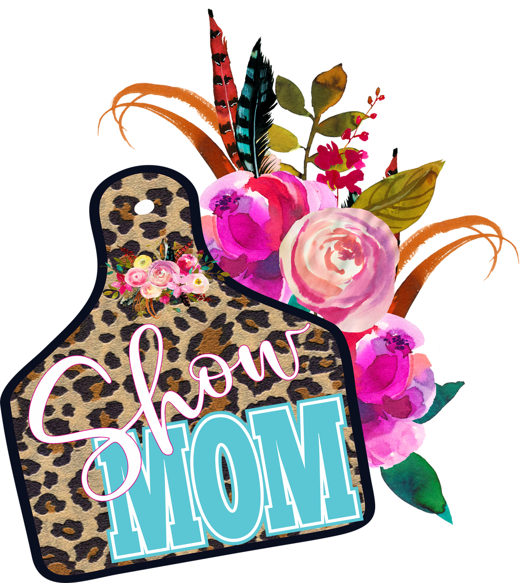 Show Mom Cheetah Tag