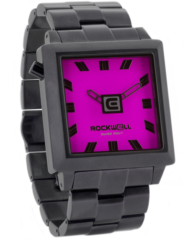 40mm2 Gunmetal/Pink