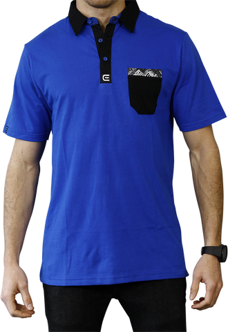 Rockwell Tri-Blend Pocket Polo - Blue