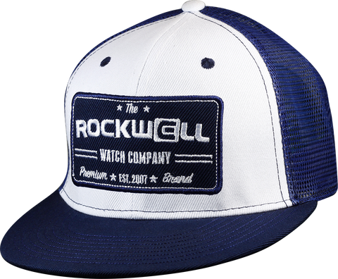 Snapback Trucker Hat Watch Co White/Navy
