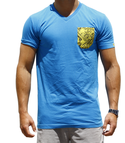 Men's Boss V-Neck Blue