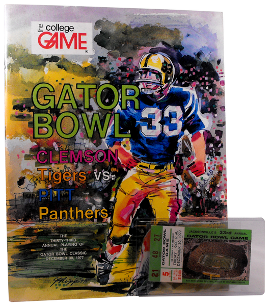 1977 Gator Bowl Game Program and Ticket Stub