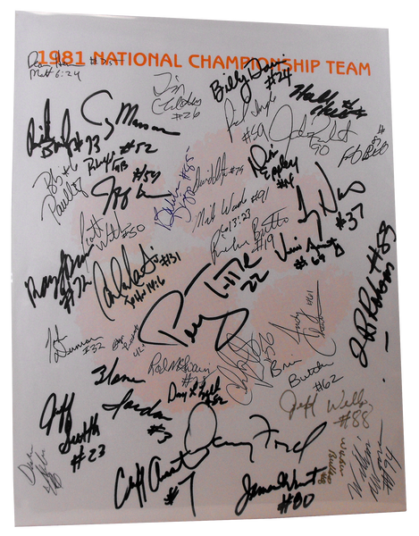1981 National Champion Team Autographs