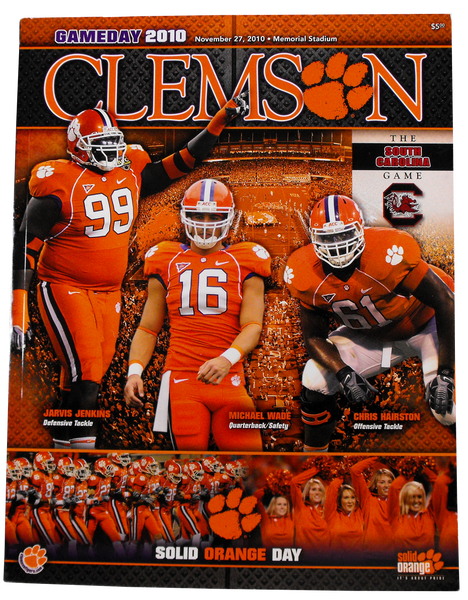 2010 Clemson vs USC Game Program