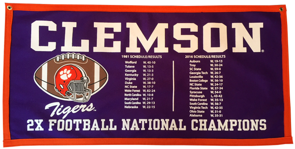 2x National Championship Schedule Banner