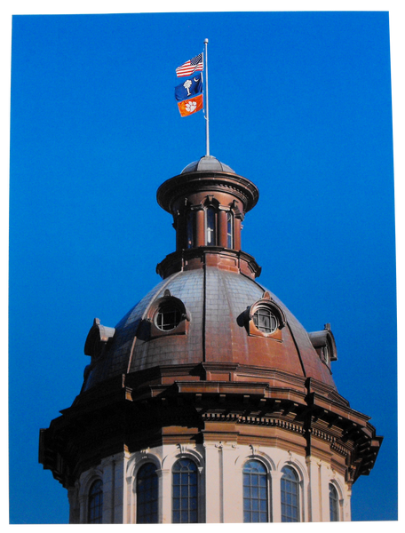 2016 Championship Flag Over the Statehouse - Blue Sky