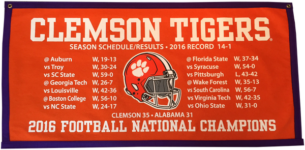 2016 National Championship Schedule Banner