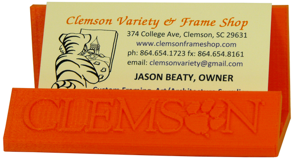 Clemson 3-D Printed Business Card Holder