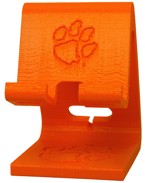 Clemson 3-D Printed Cellphone Charger Station - Double Paw