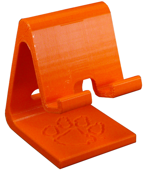 Clemson 3-D Printed Cellphone Charger Station -  Single Paw