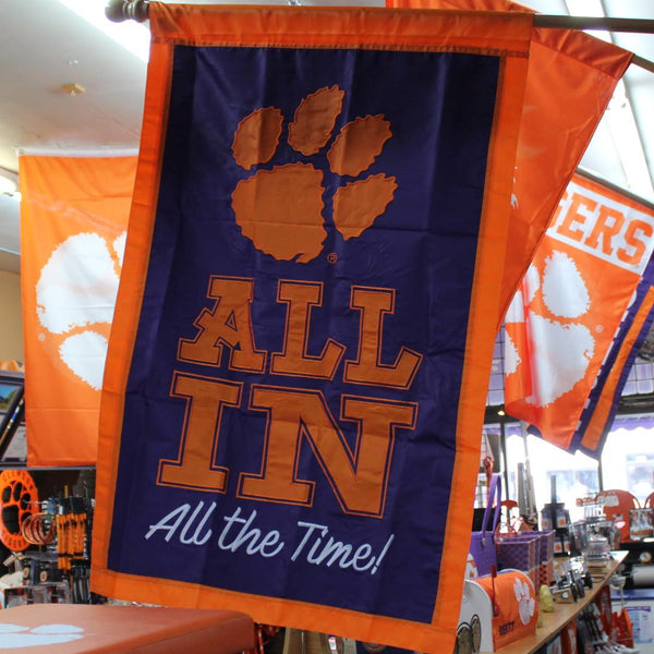 "Clemson ""All In"" House Flag"