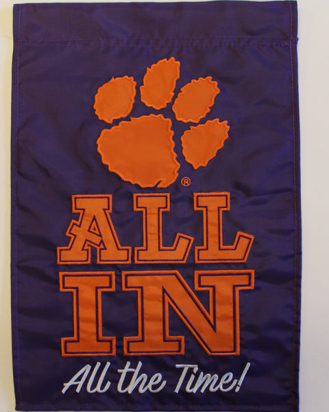 "Clemson ""All In' Garden Flag"