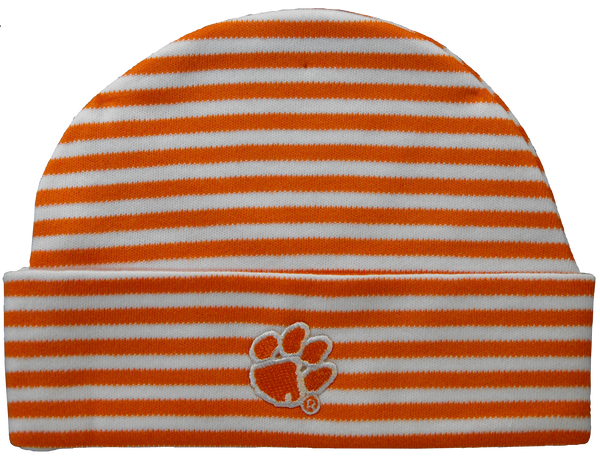 Clemson Baby Striped Cap